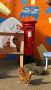 Farmyard donations Red Post Box