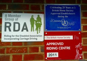 Riding Accreditation signs
