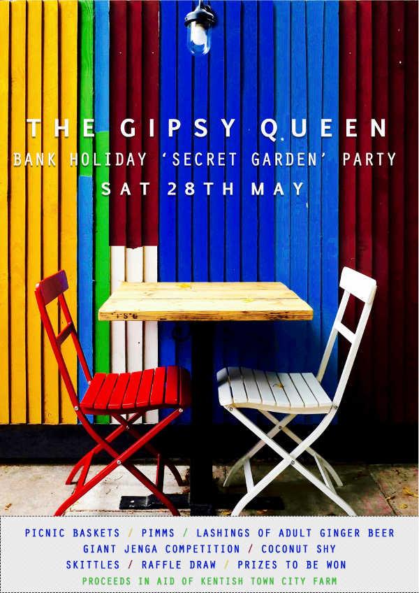 Gipsy Queen Secret Garden Party Poster
