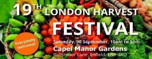 Capel Manor Harvest Festival 2017 banner