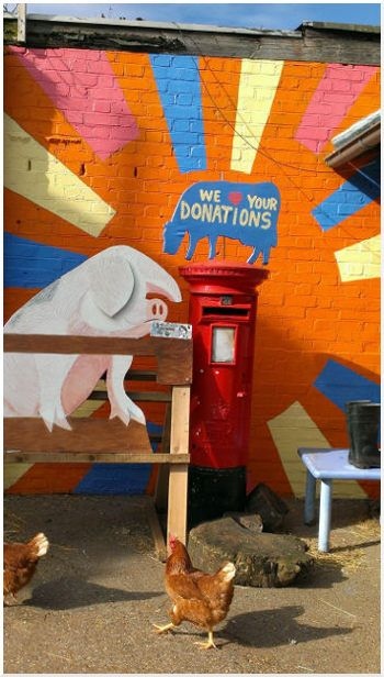 New mural for donation box area