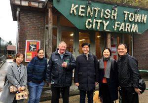 South Korean delegation visit the farm
