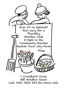 60 plus gardening poster by Lucy Caithness 2018