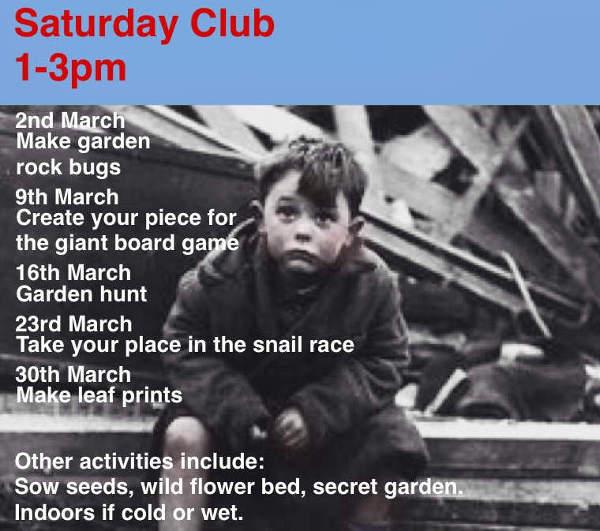 Saturday club March 2019 poster