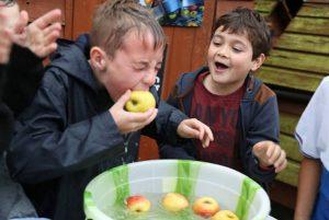 Apple bobbing on Apple Day