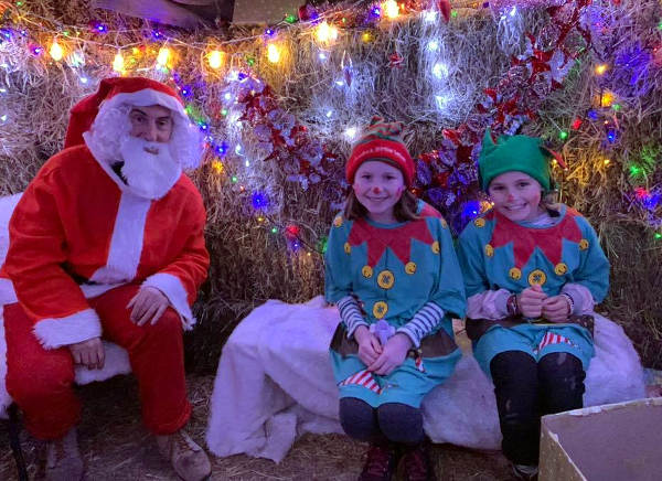 Volunteers at Santa's grotto