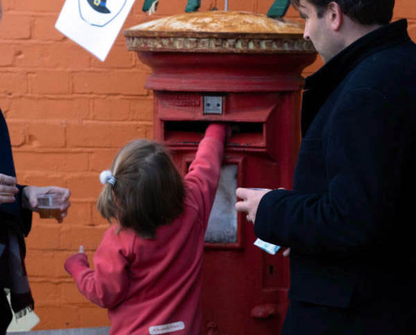 Farm donations post box