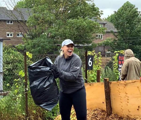 Bagging compost