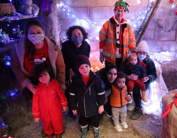 Festive visitors at Kentish Town City Farm