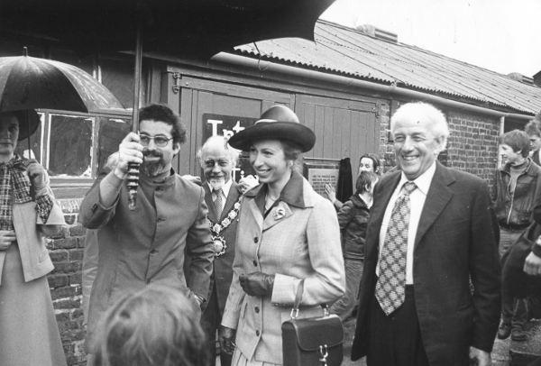 Princess Anne visiting Kentish Town City Farm