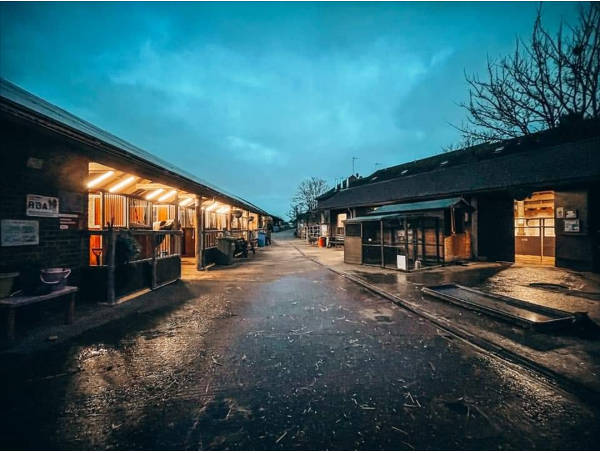 The Farmyard stables at dawn